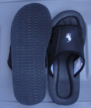 POLO RALPH LAUREN MEN'S SLIDE SANDAL SIZE-10D COLOR-BLACK SOLID NEW - $34.90