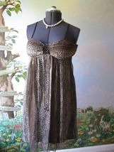 Nicole by Nicole Miller Brown Cocktail Silk Dress SZ 6 - $35.64