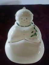 FESTIVE Christmas Lenox For The Holidays Snowman Sweets divided dish - $28.04