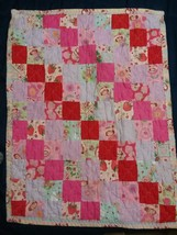 STRAWBERRY SHORT CAKE baby quilt,quality made - $14.96