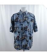 RedHead Thunder Alley Motorcycle Print Shirt Mens Sz XL - $28.93