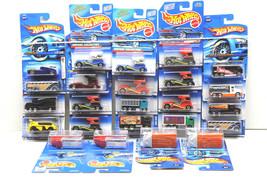 24 pc Hot Wheels Bus+Truck Die Cast Lot 1991-2004 Mattel Oshkosh+Semi-Fast NOC - $41.13