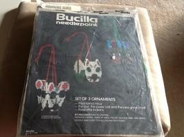 Vtg Bucilla Needlepoint Ornaments 3 Blind Mice Owl Pussycat 3 Little Indians NIP - $18.81