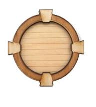 DOLLHOUSE MINIATURE 1:12 SCALE GABLE VENT KEYSTONE TRIM WINDOW #AM2161 - $7.99