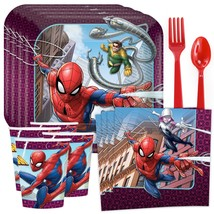 Spider-Man Webbed Wonder Tableware (Plates Napkins Cups Table Covers)(SE... - $33.85