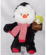 2016 Animal Adventure Penguin Plush Stuffed Toy Red White Zig Zag Scarf ... - $15.82