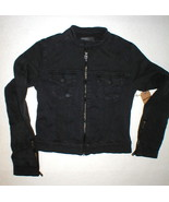 New NWT $228 Womens True Religion Jeans Designer XS Black Jacket Moto Ar... - $131.60