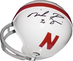 Mike Rozier signed Nebraska Corhuskers 2bar Mini Helmet- GAI Hologram - $52.95