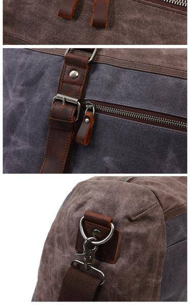 Sale, Military Duffel Bag ,Travel Bag, Canvas with Leather Duffel Bag, Men's Tra image 6