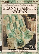 """Leisure Arts """"Granny Sampler Afghan"""" 35 Different Squares/Crochet - Gently Used - $6.50"""