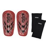 Mitre Breathelite Shinguards & Sleeves Set Red SZ JUNIOR Less than 4' Tall - $6.93