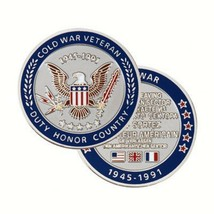 "COLD WAR VETERAN 1945-1991 1.75""  CHALLENGE COIN - $23.74"