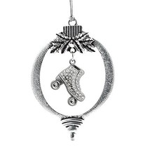 Inspired Silver 1.0 Carat Roller Skate Holiday Christmas Tree Ornament - $18.05