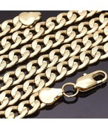 "Gorgeous NEW 14 K Gold Filled Thick 8MM Pave Cuban Link Chain 30""~Unisex... - $39.99"