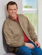 Mens Jacket Size L Beige Haband GREAT SHOULDERS Derby Casual Zipper LARG... - $18.99