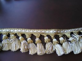 Bellagio BF-1415 Olive//Moss tassel fringe 3″ wide X 25yds 32 Units Available.