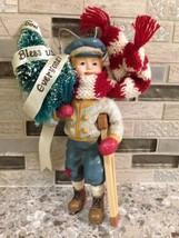 "RARE VINTAGE ""God Bless Us Everyone"" Christmas Tree Ornament-Kurt Adler-Tiny Tim - $59.40"