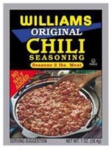Williams Original Chili Seasoning (3 Packs) Each 1 Oz. Pack Seasons 2# Of Meat - $8.87