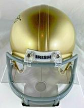 JOE MONTANA / NFL HALL OF FAME / AUTOGRAPHED NOTRE DAME MINI HELMET / PLAYER COA image 4