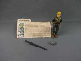 1983 GI Joe Machine Gunner Rock N Roll  100% Complete W/ Filecard Action... - $65.44