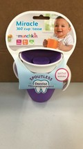 Munchkin 7 Oz Miracle Trainer Cup Purple BPA free - $9.89