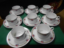 "Beautiful NIKKO China ""Victoria"" Made in Thailand- Set of 8 CUPS & SAUCERS - $36.44"