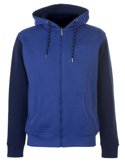 Primary image for Blue&Black Fleece Hoodie For Men