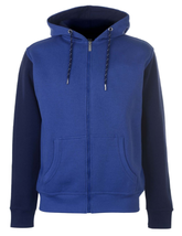 Blue&Black Fleece Hoodie For Men - $40.00