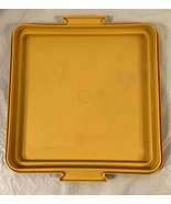 "VTG Tupperware Yellow 10"" Square Cake Keeper Taker..REPLACEMENT BASE ONL... - $5.93"