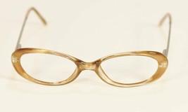 Fossil CHLOE Brown Glitter Plastic Silver Eyeglass Frames Designer Rx Eyewear - $9.12