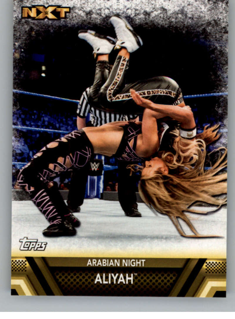 Primary image for 2017 Topps Then Now Forever Finishers and Signature Moves #F-34 Aliyah NM-MT Ara
