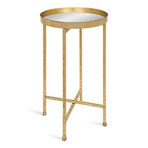 Kate and Laurel 213960 Celia Round Metal Foldable Tray Accent Table, 14x... - $73.77