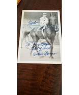 EDDIE ARCARO SIGNED AUTO PHOTO NASHUA HORSE RACING JOCKEY TRIPLE CROWN K... - $59.99