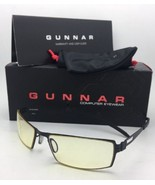 New GUNNAR Computer Glasses SHEADOG 56-18 Onyx Matte Black with Amber Ye... - $79.95