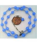 Light sapphire opal glass necklace thumbtall