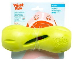 West Paw S Qwizl Fetch Toy Treat Holder Virtually Indestructible Dog Toy... - $14.80