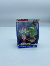 Lot of 2 Fisher Price Little People Toy Story 4 Buzz Lightyear + Woody &... - $11.87