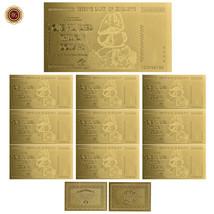 WR 10pcs Zimbabwe 100 Trillion Dollar Gold Banknote Polymer Note /w Zimb... - $14.28