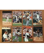 """1989 BARRY COLLA """"JOSE CANSECO"""" COMPLETE POSTCARD SET (8) OAKLAND ATHLETICS - $10.84"""