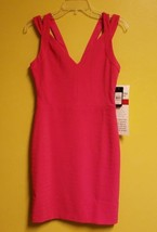 NWT GUESS WOMEN'S RIBBED BODYCON LINED RASPBERRY DRESS SIZE 12 MSRP $138.00 - $26.72