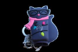 Bath and Body Works Cat Kitty Xmas Original Pocket PB Holder Keychain *No Light* - $11.99
