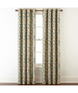 (1) JCPENNEY Home Blaine Blackout Grommet STARGAZER TEAL BLUE Curtain 50... - $52.52