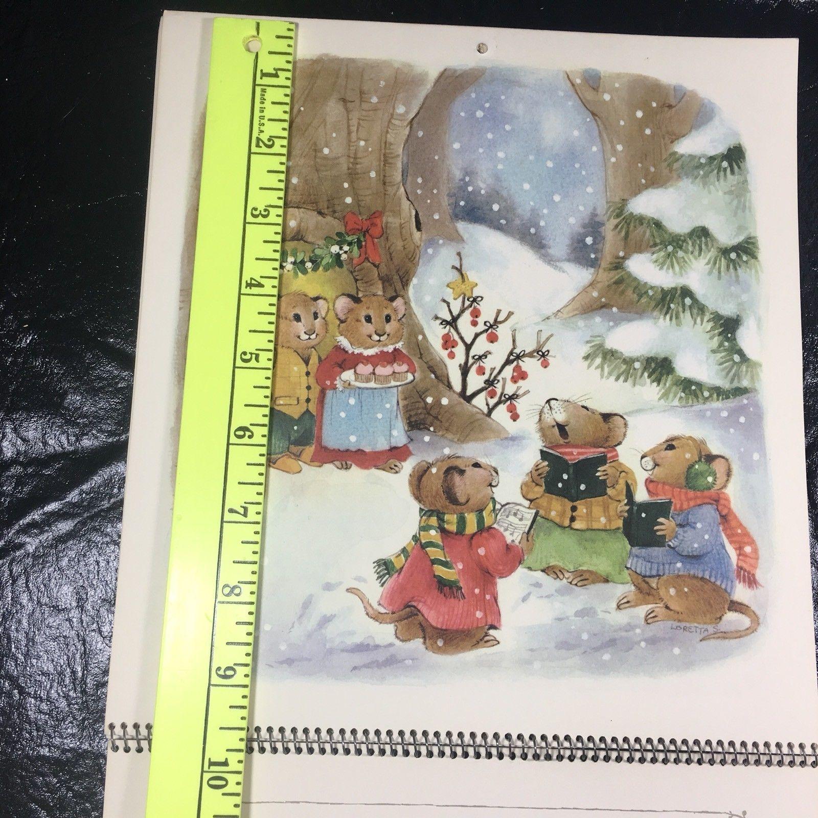 Vintage 1976 Hallmark Calendar All The Happy Days Mice Mouse Loretta S Artwork