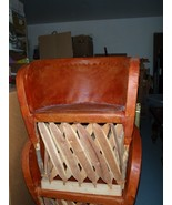 2 leather barrel chairs, from PVR - $143.55