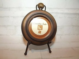 Russ Berrie Executive Suite Handpainted Pocket Watch Picture Frame with Easel - $8.77
