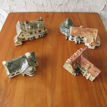 Tey Pottery Britain in Miniature Set of 4 Houses Bridge Inn Anglesey Abb... - $34.64