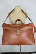 Coach large leather duffle bag travel carryall mint shoulder strap brown... - $500.00