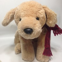 "Russ Amber Dog Plush Golden Retriever Puppy Stuffed Animal Red Scarf 15"" - $39.99"