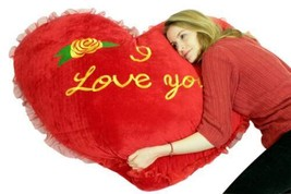 Gigante Valentine Cuore Cuscino 107cm i Love You Big Plush Giorno Regalo - $3.366,82 MXN