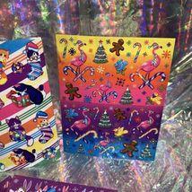 FULL Vintage Lisa Frank Holiday Christmas Silly Senders Kitten Sticker Sheets image 5